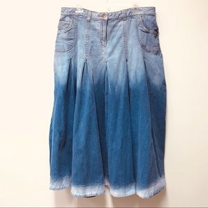 SOFT SURROUNDINGS DENIM SKIRT LONG SIZE XL EUC